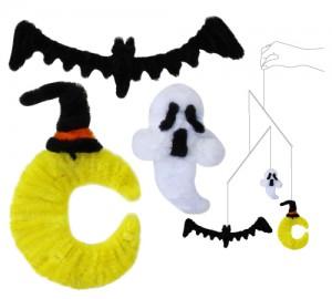 月とコウモリとオバケ(モチーフと使用イメージ)